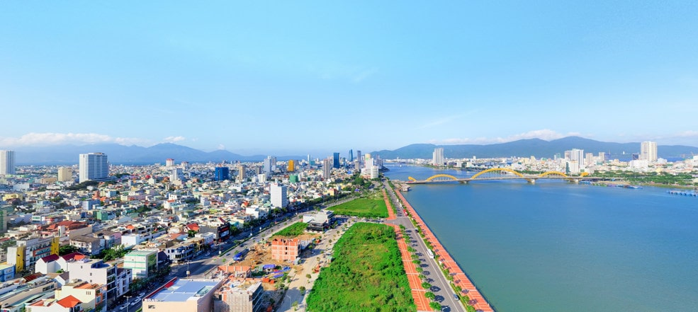 View huong Bac can ho Nagomi Waterfront tower da nang